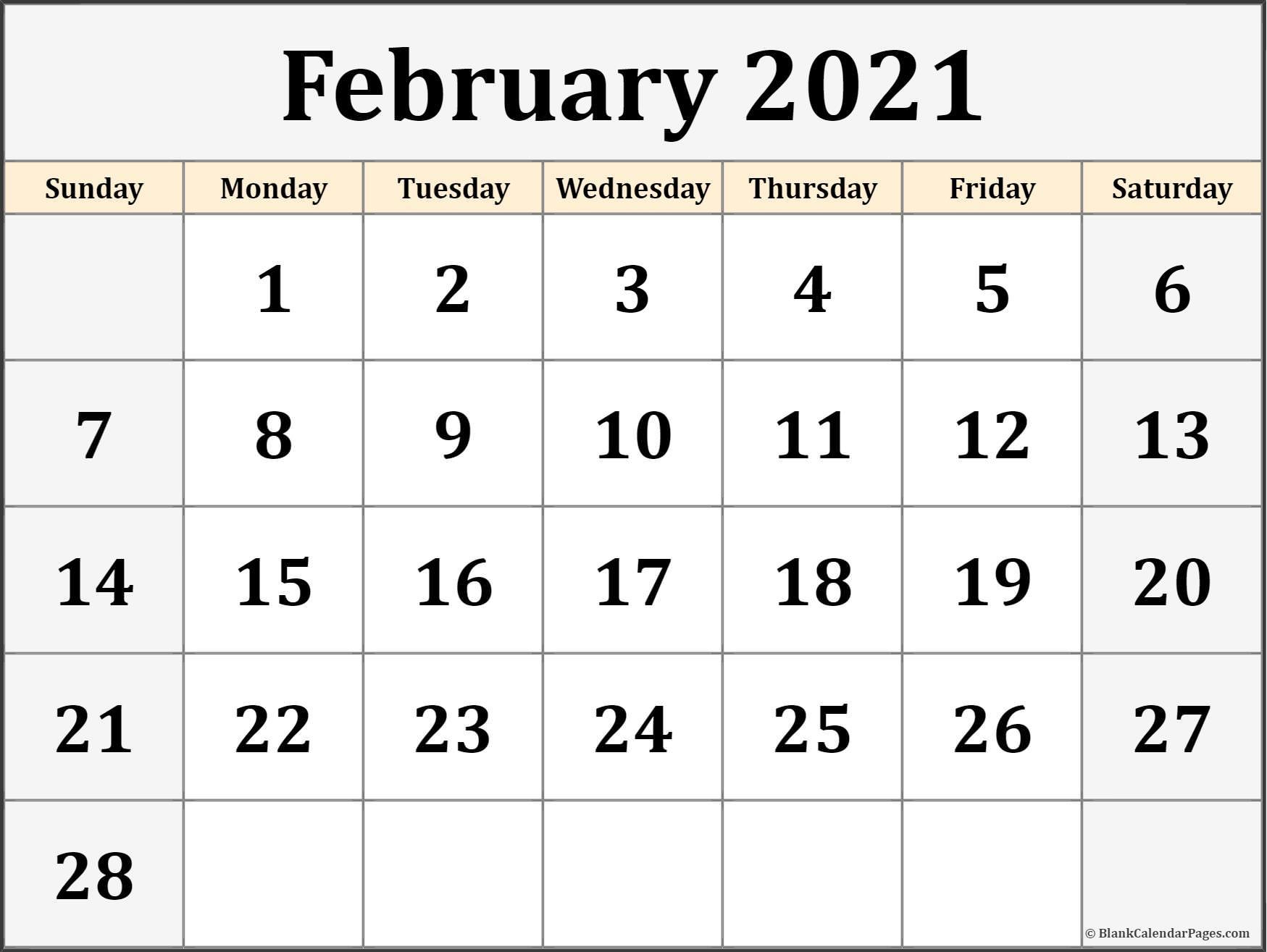 Free Calendars 2021 Printable | Calendar Printables Free Blank throughout Blank Monthly Calendar 2021