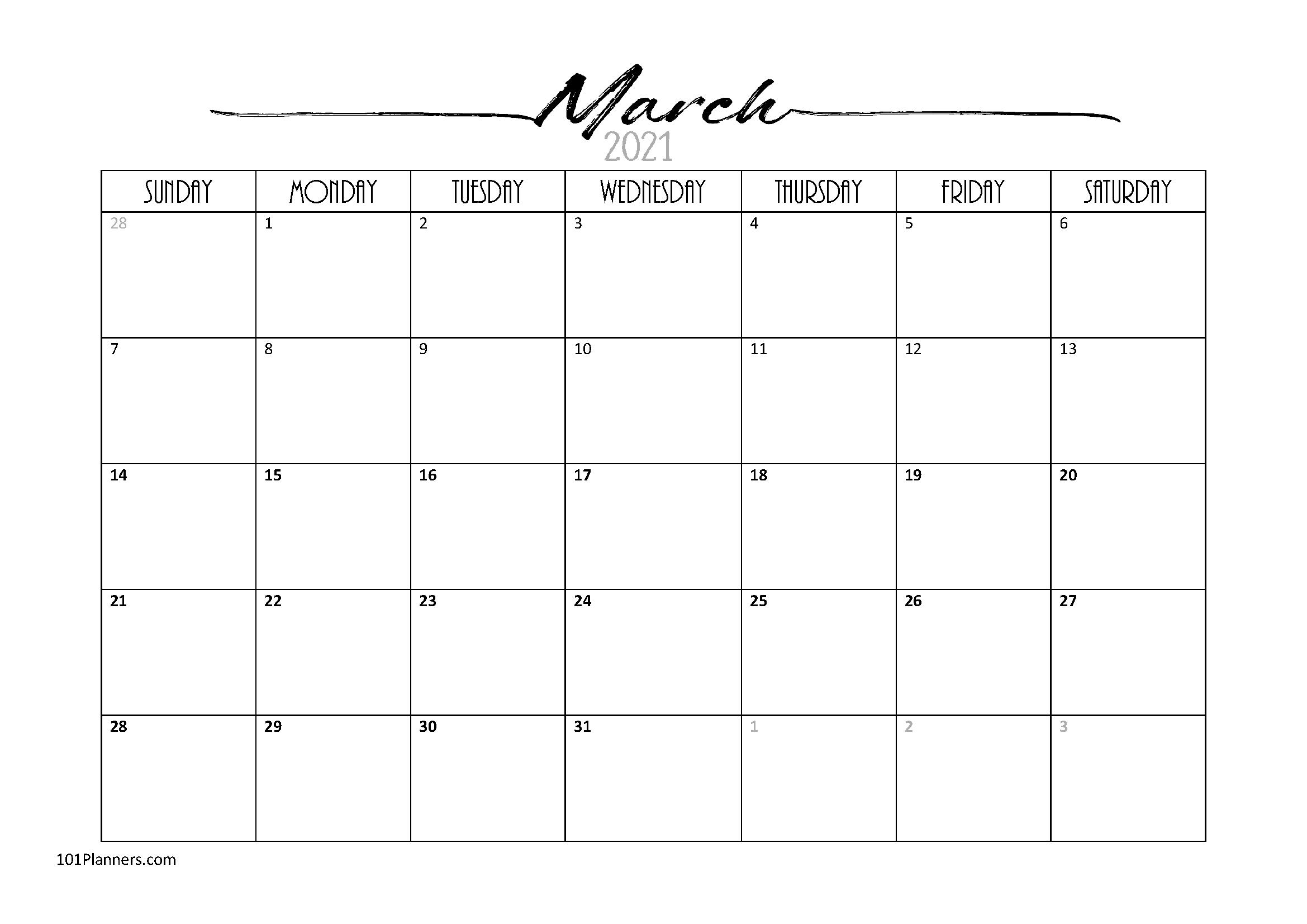 Free Editable 2021 Calendars In Word  Printable Calendar for 2021 Word Calendar Wincalendar