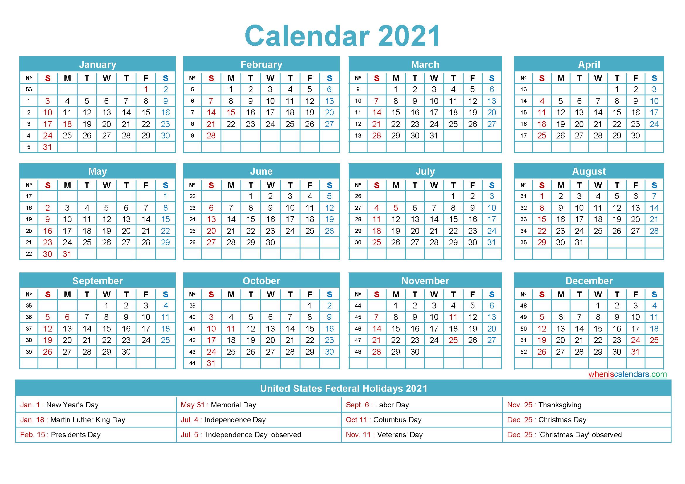 Free Editable Printable Calendar 2021  Template No.ep21Y5 in 2021 Calendar Free Printable