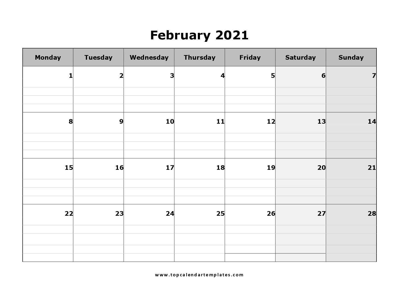 Free Editable Weekly 2021 Calendar : Printable 2021 throughout Free Printable Calendars 2021 With Lines