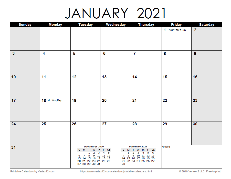 Free Print 2021 Calendars Without Downloading   Calendar Printables Free Blank for 2021 Calendar Free Printable