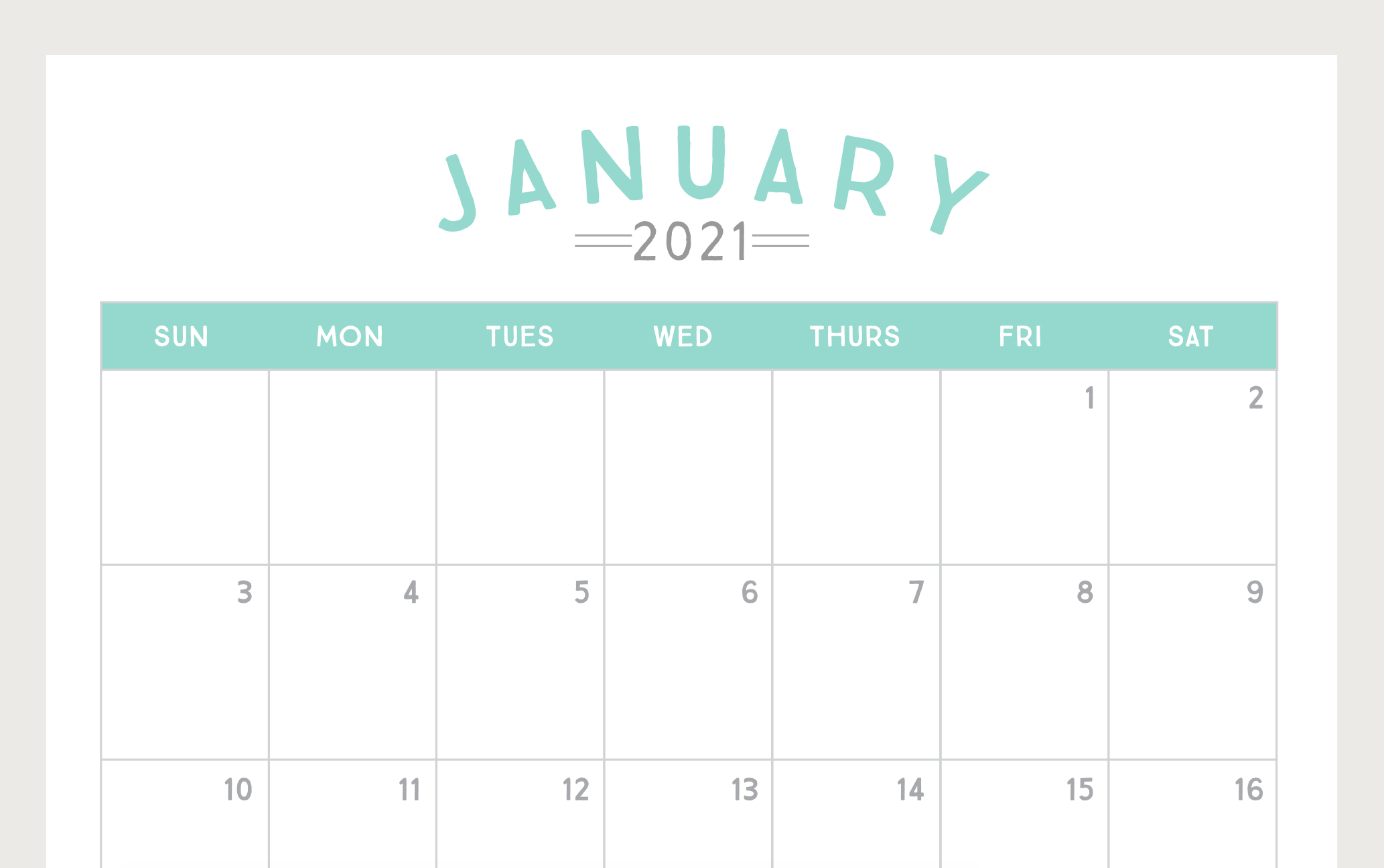Free Printable 2021 Calendar pertaining to Monthly Calendars Free Ruled 2021