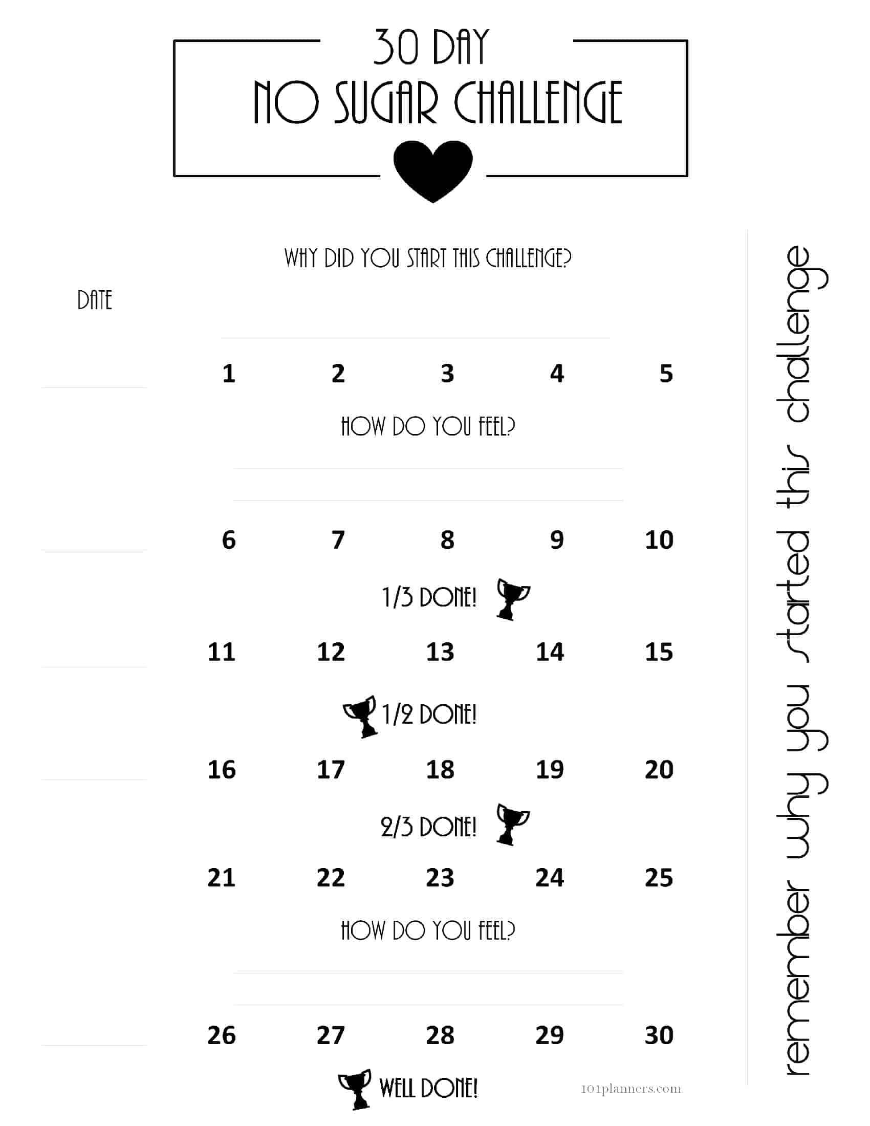 Free Printable 30 Day Shred Calendar with regard to 30 Days Calendar Template
