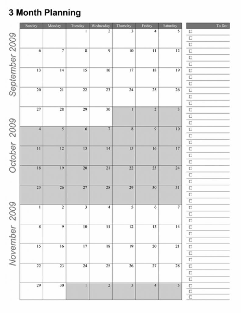Free Printable Blank 3 Month Calendar  Template Calendar intended for Blank 3 Month Calendar