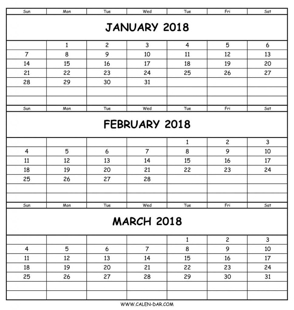 Free Printable Blank 3 Month Calendar  Template Calendar with regard to 3 Month Calendar Printable