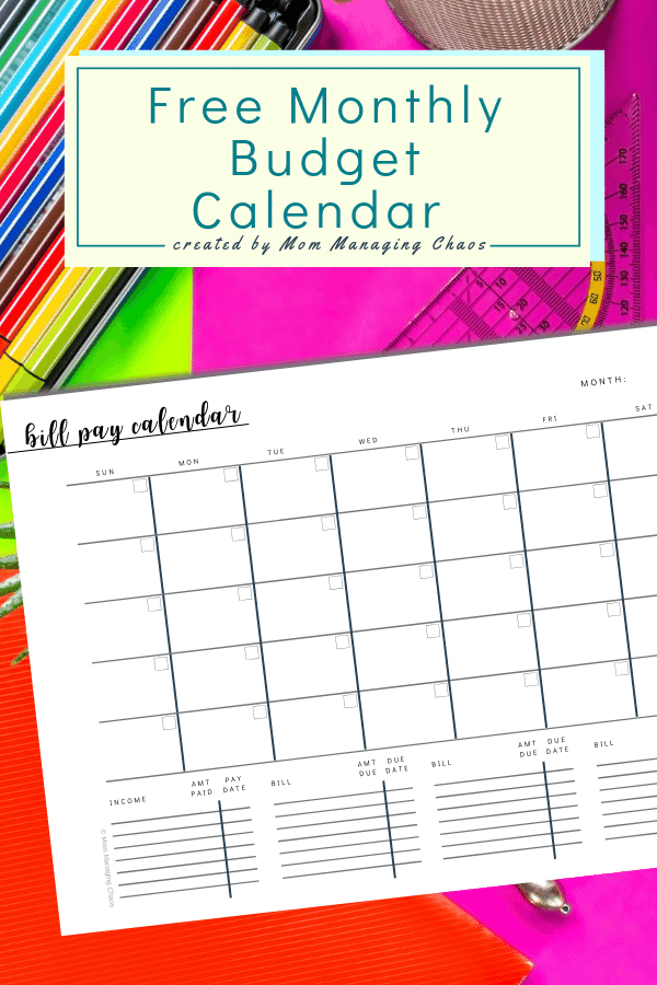 Free Printable Monthly Bill Payment Log   A Bills To Pay intended for Bill Payment Calendar Printable
