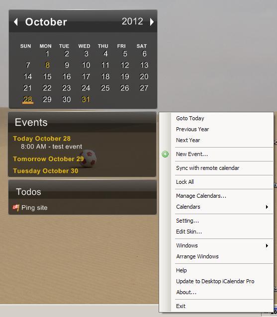 Freeware Calendar: Desktop Icalendar Lite  Rgdot intended for How To Make Google Calendar My Desktop Background