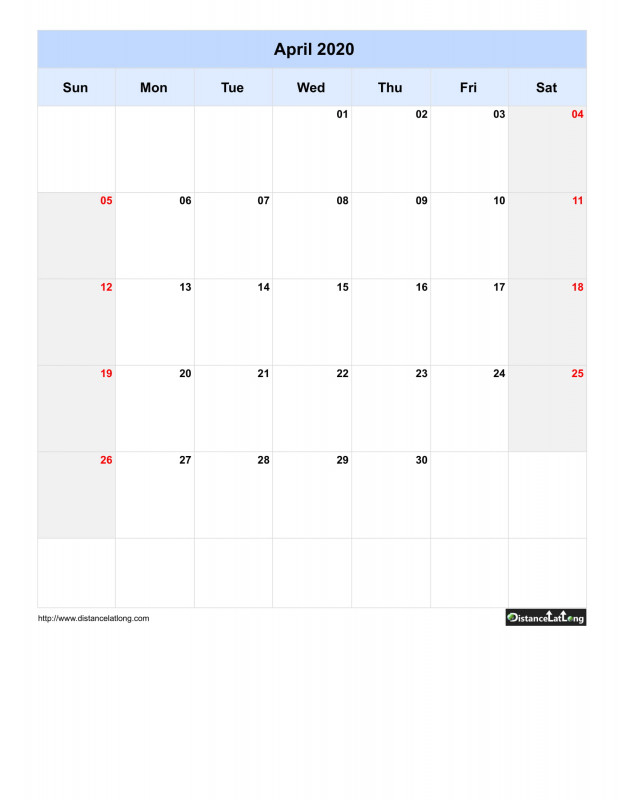 Full Page Blank Calendar Template Awesome 2020 Yearly regarding Full Page Blank Calendar