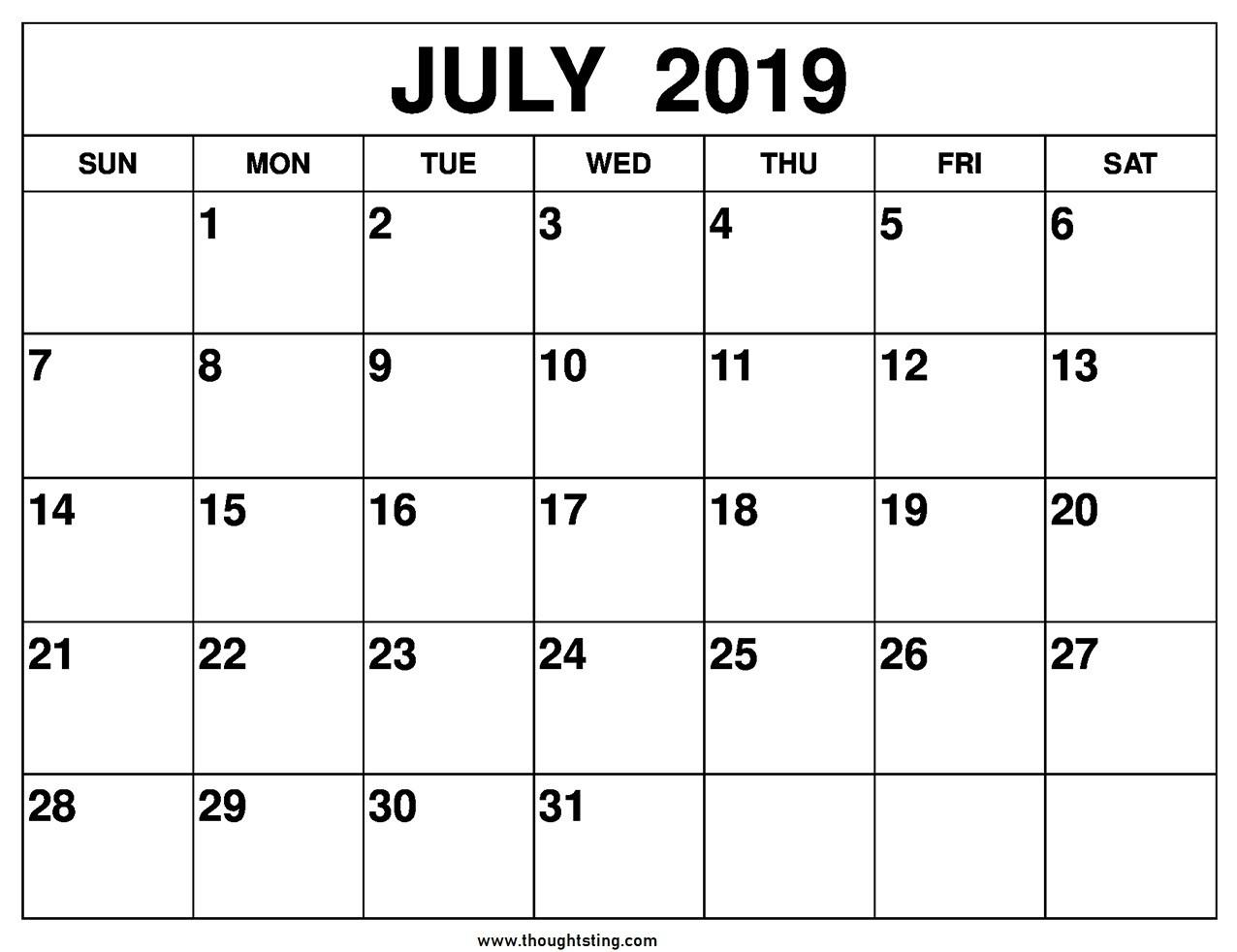 Full Page Printable Calendar  Template Calendar Design pertaining to Full Page Blank Calendar