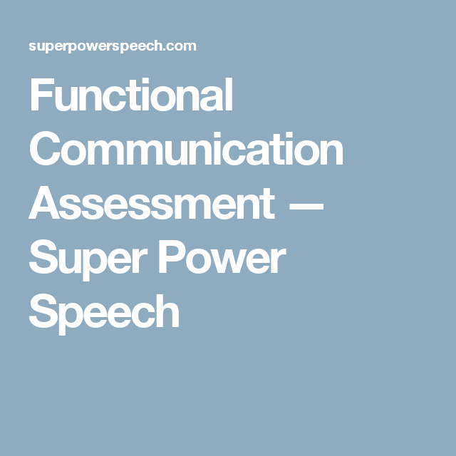 Functional Communication Assessment | Assessment, Informal throughout Autism Social Skills Profiel 2