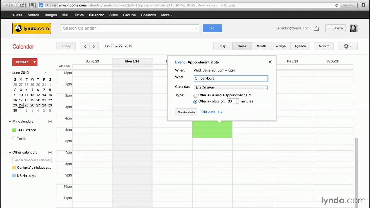 Google Calendar Tutorial: Creating Appointment Slots in Outlook Calendar Not Showing Appointments