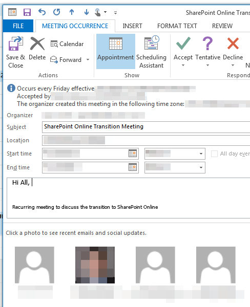 How Do You Show A List Of Attendees In An Outlook 2013 throughout Outlook Calendar Not Showing Appointments