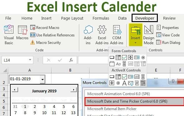 How To Add A Calendar Drop Down In Excel Graphics intended for Calendar Control Excel