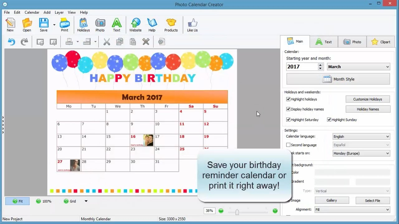 How To Create A Birthday Reminder Calendar  Youtube throughout Birthday Calendar Template Excel