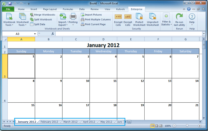 How To Create A Calendar In Excel? within Calendar Control Excel