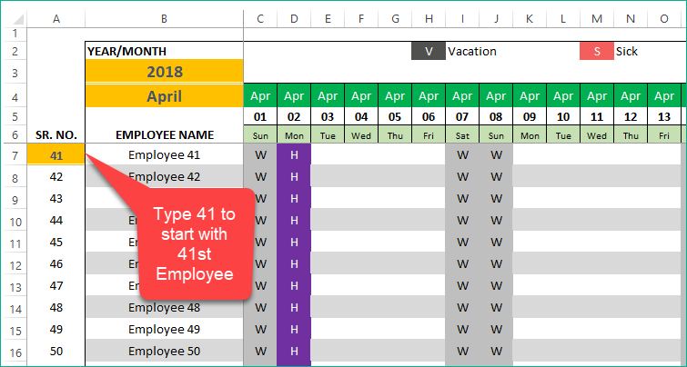 How To Extend Calendar View In Pto Manager Excel Template in Free Pto Calendar Templates