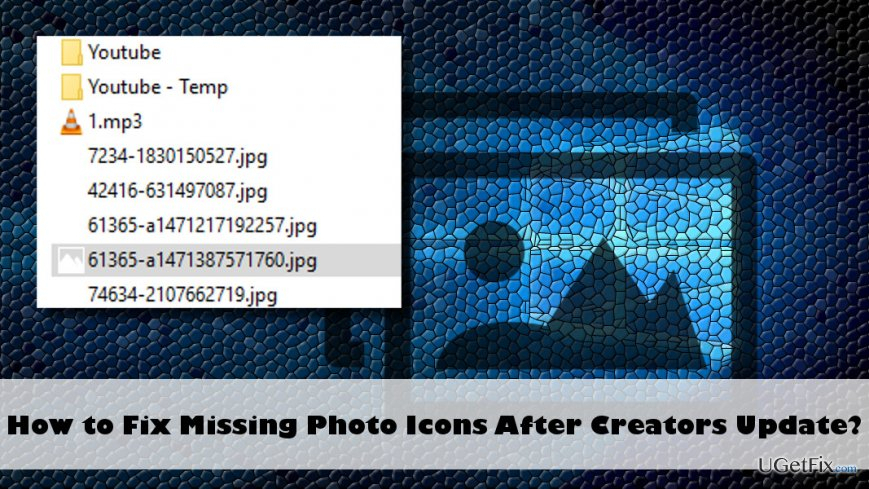 How To Fix Missing Photos Icon After Creators Update? within Mail Icon Missing From Iphone
