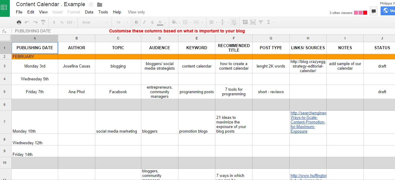How To Maintain Consistent Brand Identity Across Social with Google Docs Editorial Calendar Template