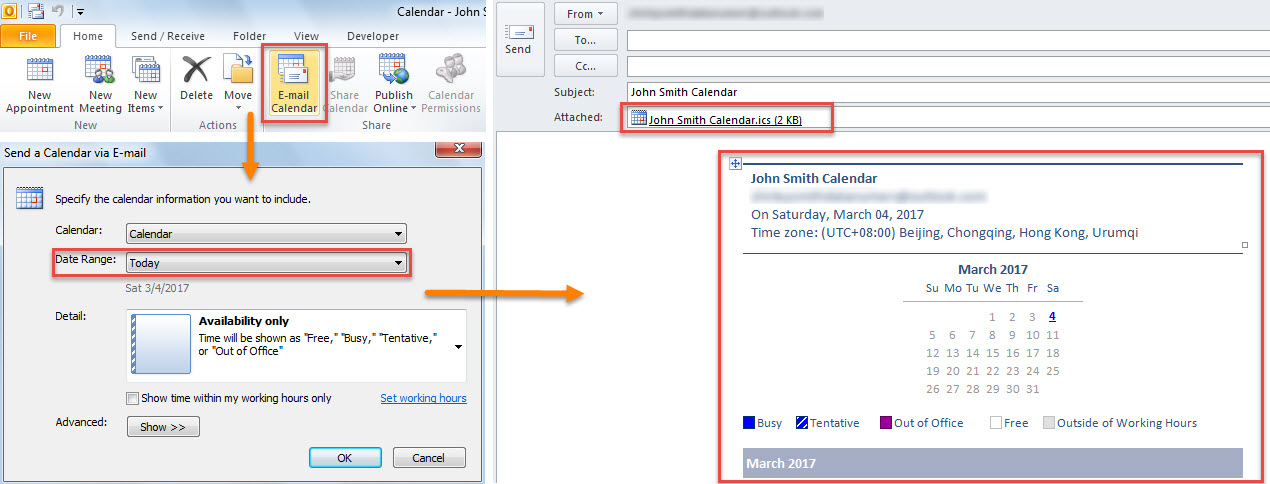 How To Quickly Send Your Today'S Appointments To Someone intended for Outlook Calendar Not Showing Appointments