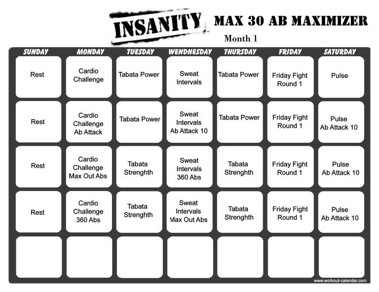 Https:www.youcalendarsinsanitymax30Calendar.html within Insanity Max 30 Schedule Month 2