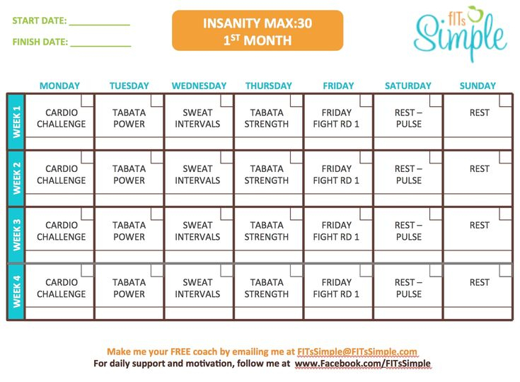 Insanity Calendar Month 3 In 2020 | Insanity Max 30 inside Insanity Max 30 Schedule Month 2