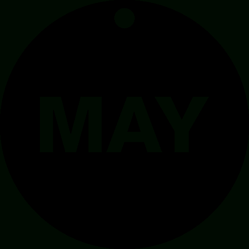 Interface, Calendar, Circular Calendar, Circle, Month, May with regard to Calendar Icon 16X16