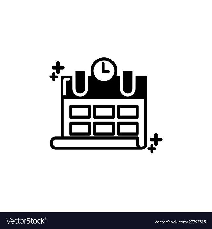 Isolated Calendar Icon Line Design Royalty Free Vector with regard to Calendar Icon Material Design
