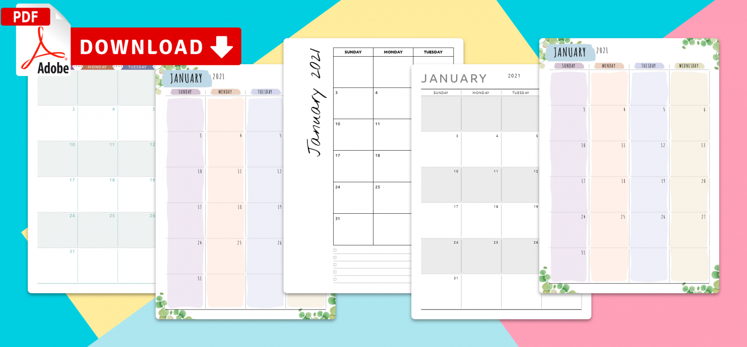 January 2021 Calendar  Download Printable Templates Pdf within December Calendar 2021 Empire And Puzzles