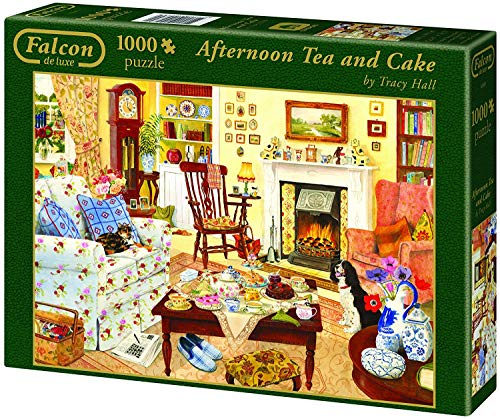 Jumbo Falcon De Luxe Afternoon Tea And Cake Jigsaw Puzzle for December Calendar 2021 Empire And Puzzles