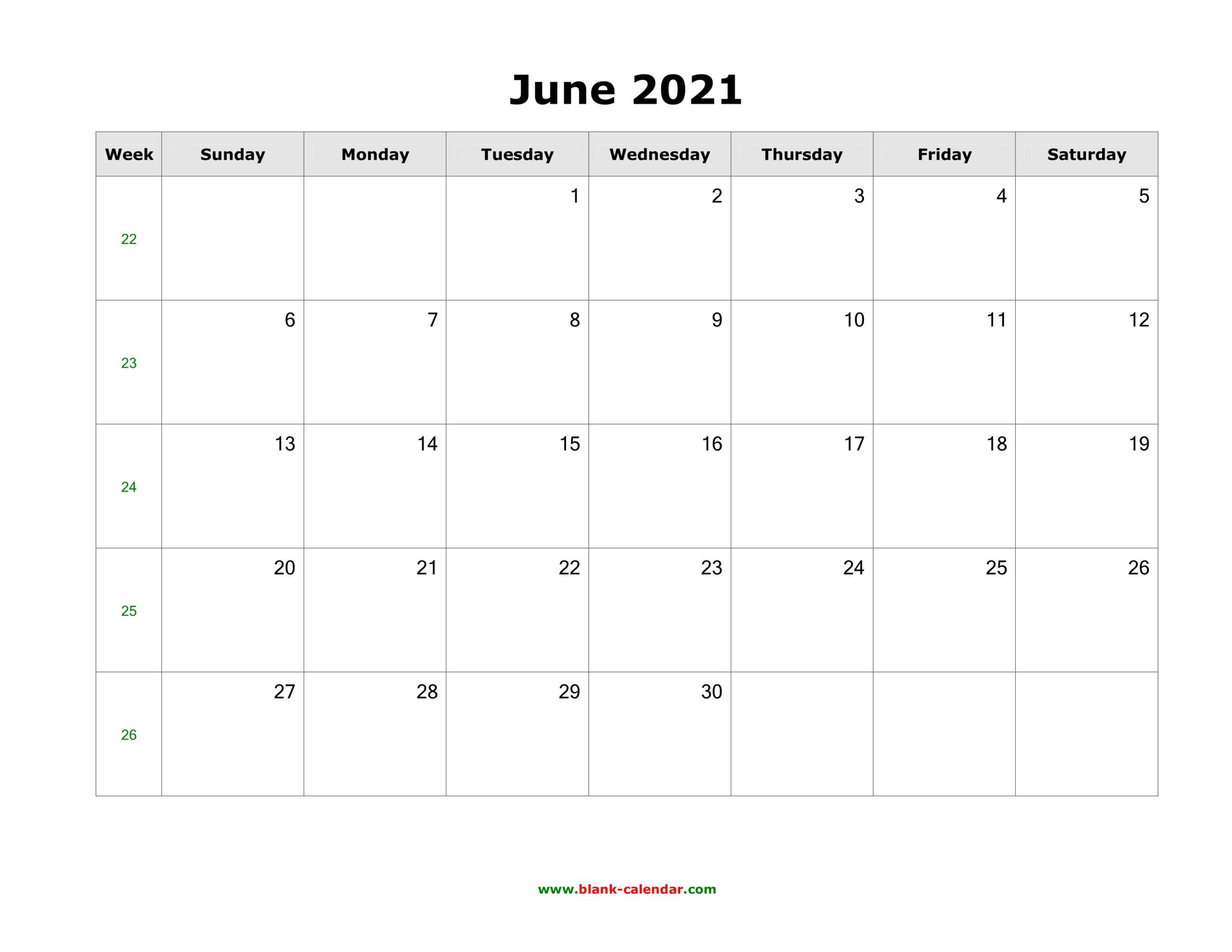 June 2021 Blank Calendar   Free Download Calendar Templates pertaining to 3 Month Blank Printable Calendar 2021