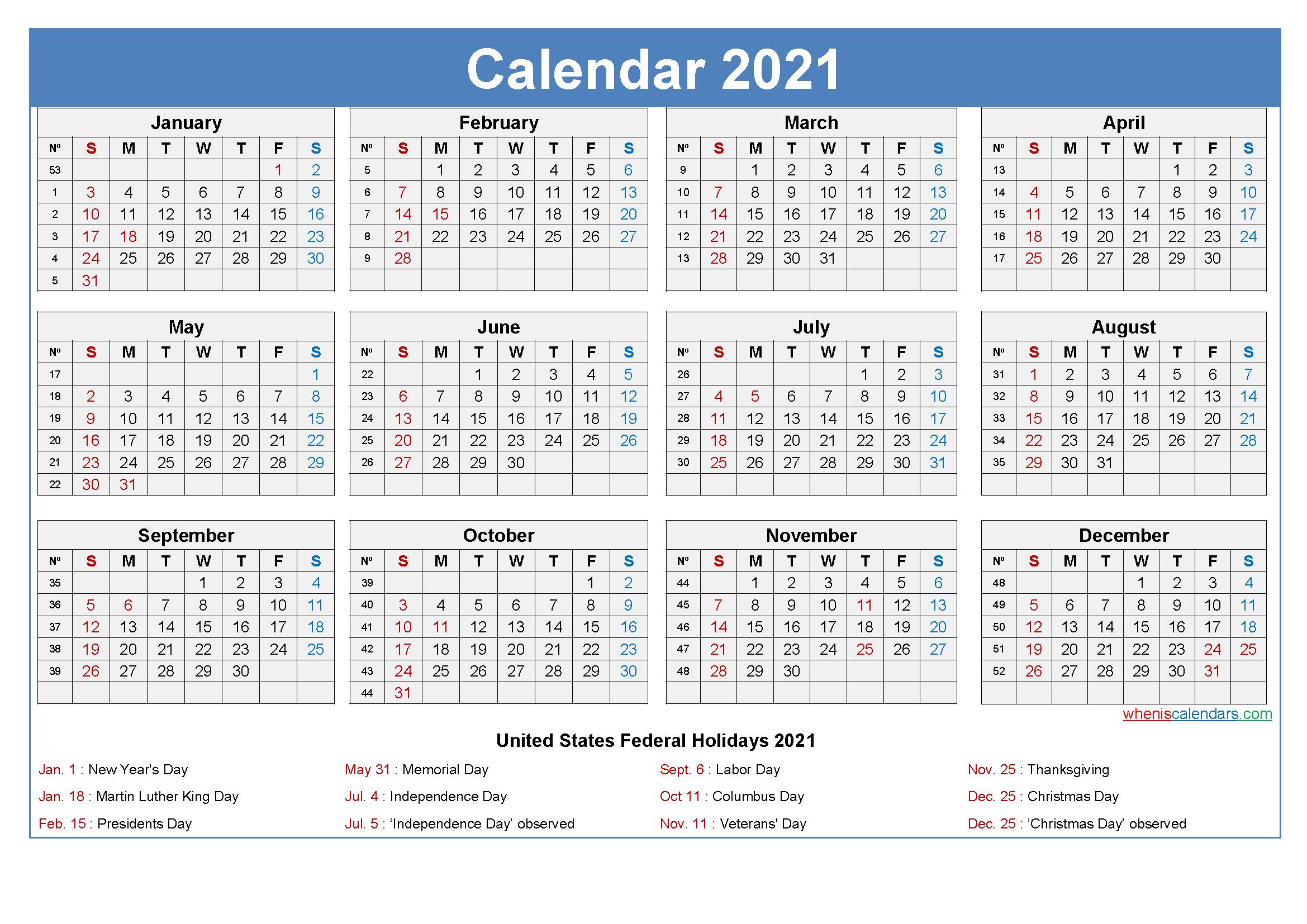 Large Desk Calendar 2021 With Holidays regarding 2021 Calendar Free Printable