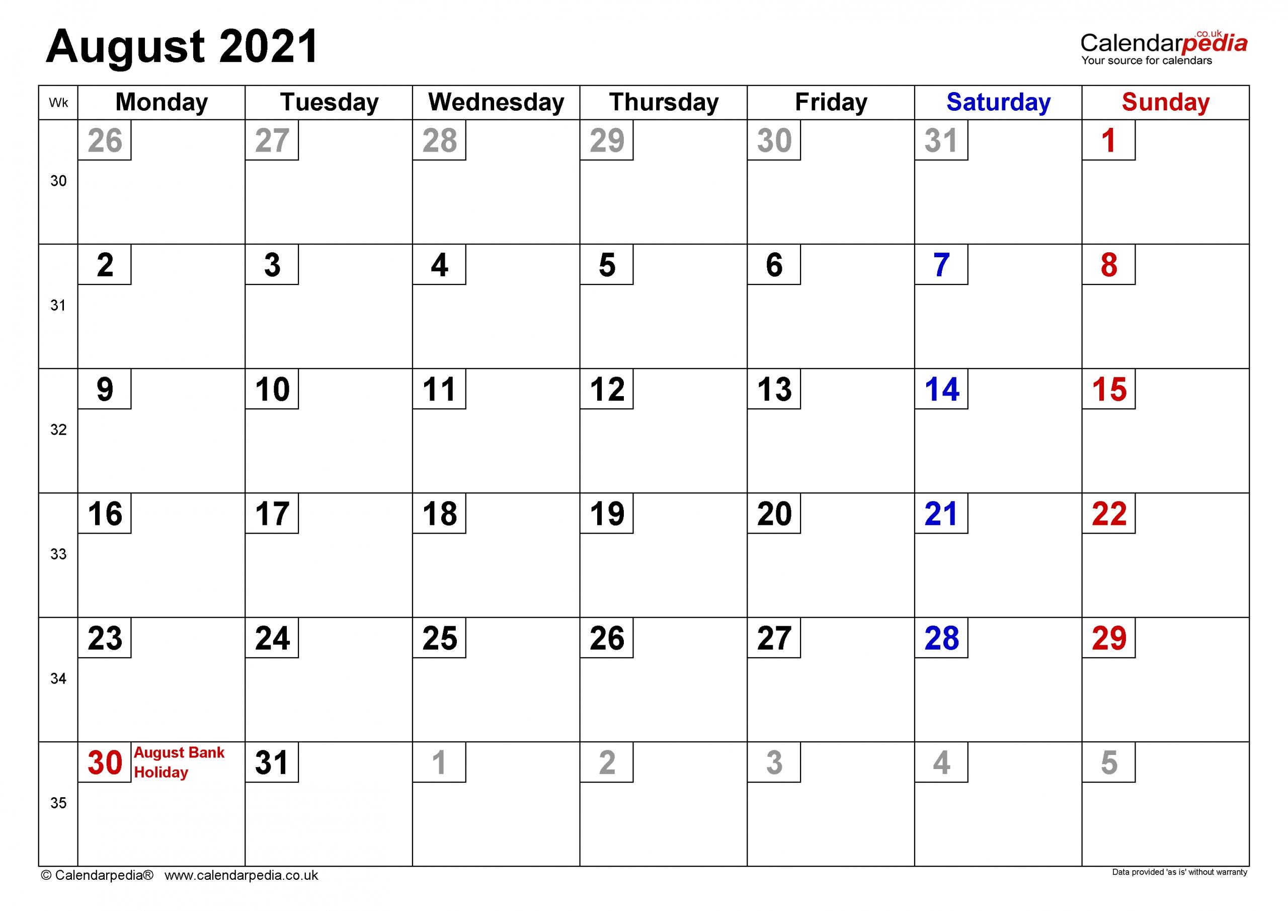 Large Number Flip Calendar 2021 | Calendar Template Printable inside Free Calendars 2021 Word Doc Printable August