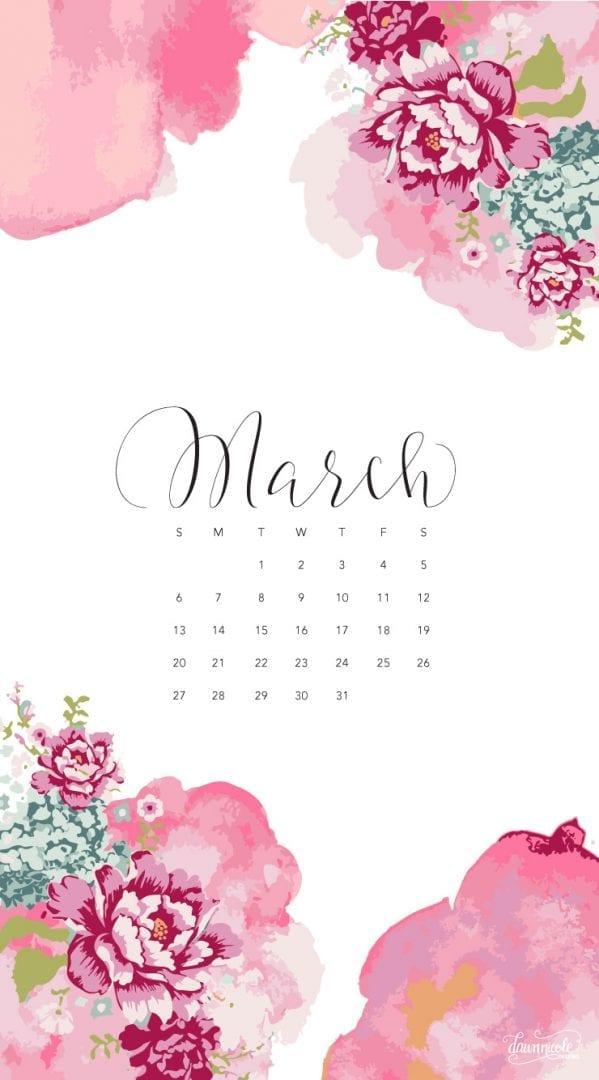 March 2016 Calendar + Tech Pretties | Dawn Nicole Designs® within How To Make Google Calendar My Desktop Background