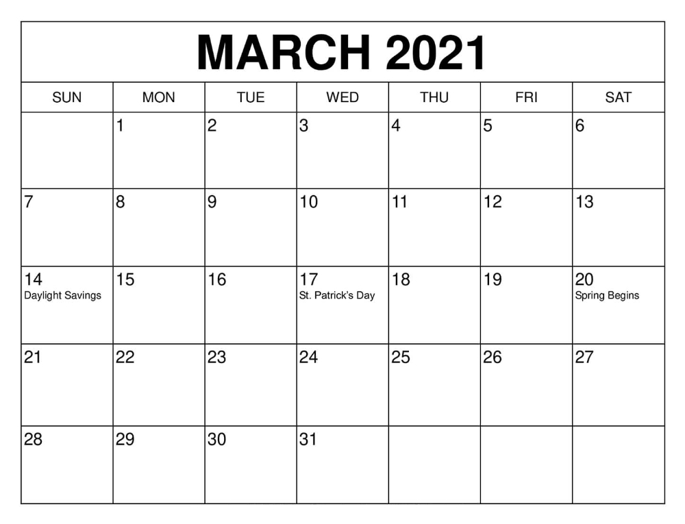 March 2021 Calendar Free Word Template  Printable Blank with Free Calendars 2021 Word Doc Printable August