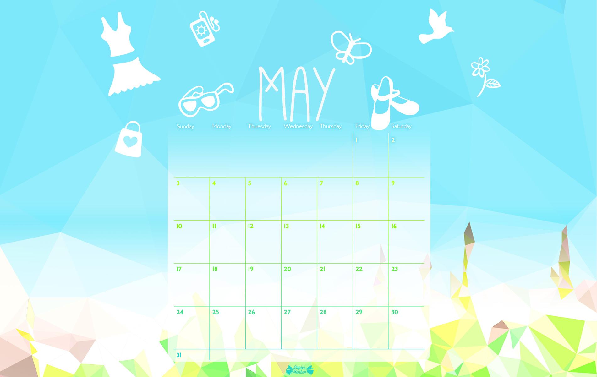 May 2015 Calendar Printable  Papier Bonbon intended for How To Make Google Calendar My Desktop Background