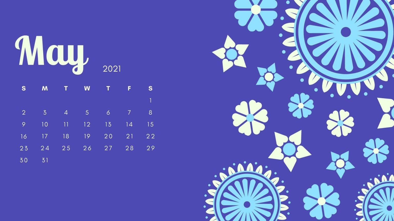May 2021 Desktop Calendar Wallpaper  Free Printable 2021 within Desktop Calendars 2021 Free Printable