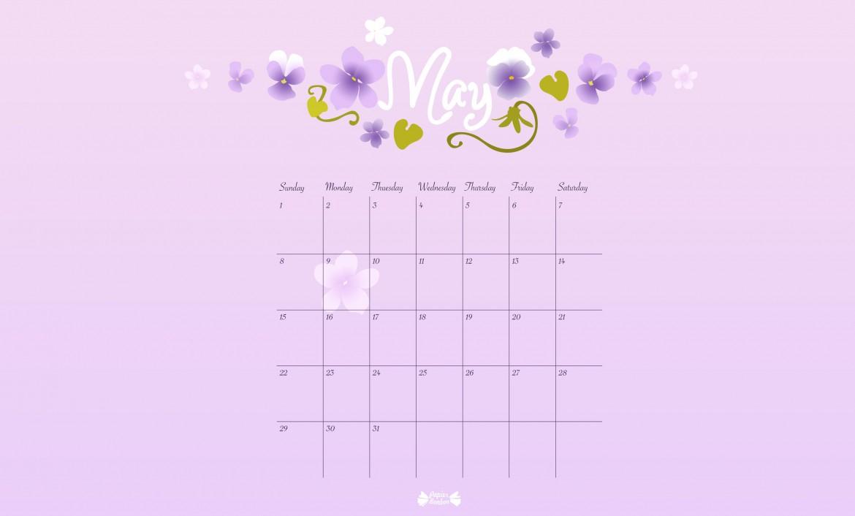 May Printable Calendar  Papier Bonbon inside How To Make Google Calendar My Desktop Background