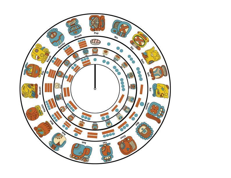 Maya Calendar Template Make Your Own Working Maya Wheel | Etsy with regard to Calendar Maker For Mac