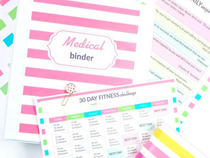 Medical Binder In 2020   Medical Binder, Medical Binder for Sarah Titus Printables