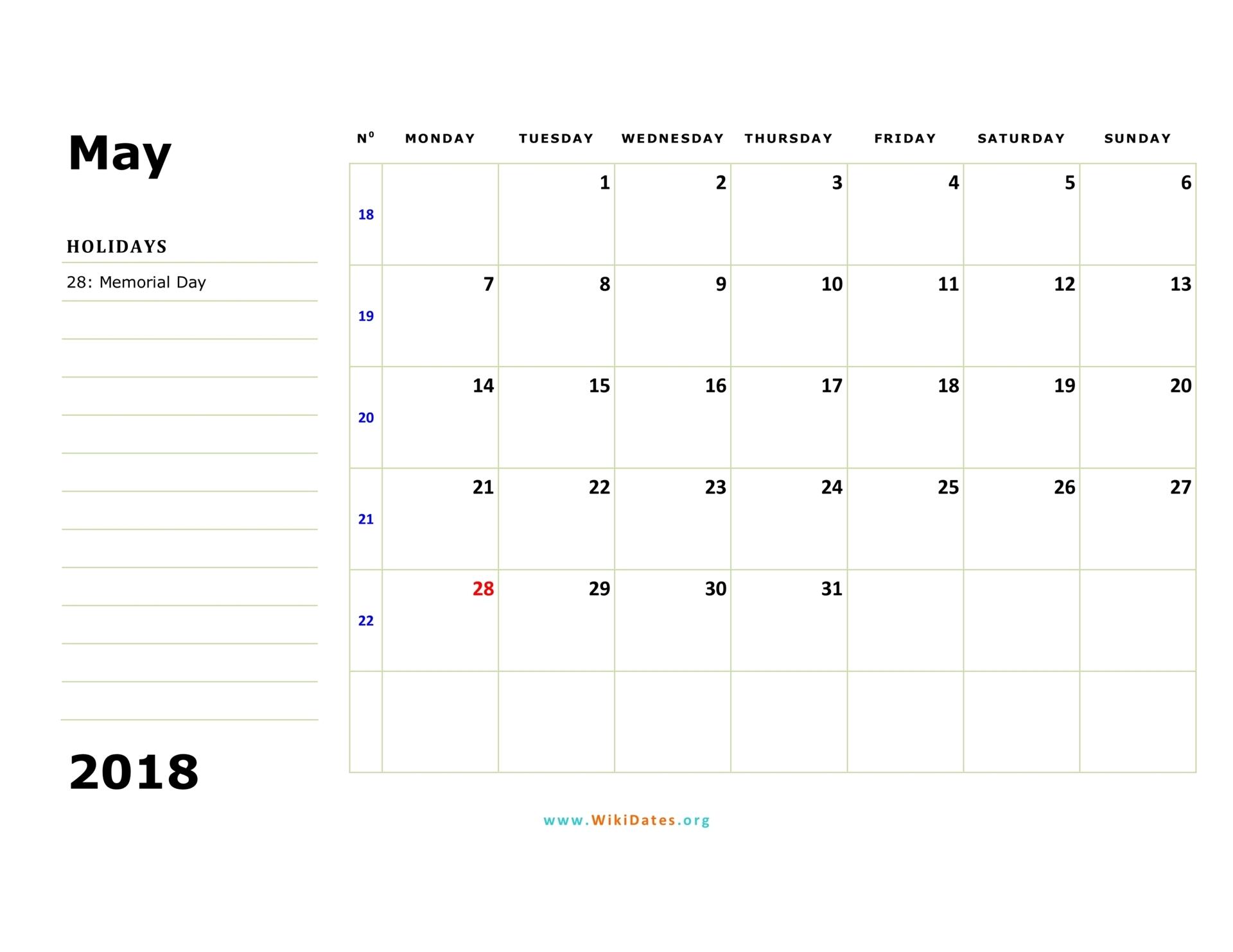 Monday Sunday Printable Calendar  Printall throughout Calendar Monday To Sunday