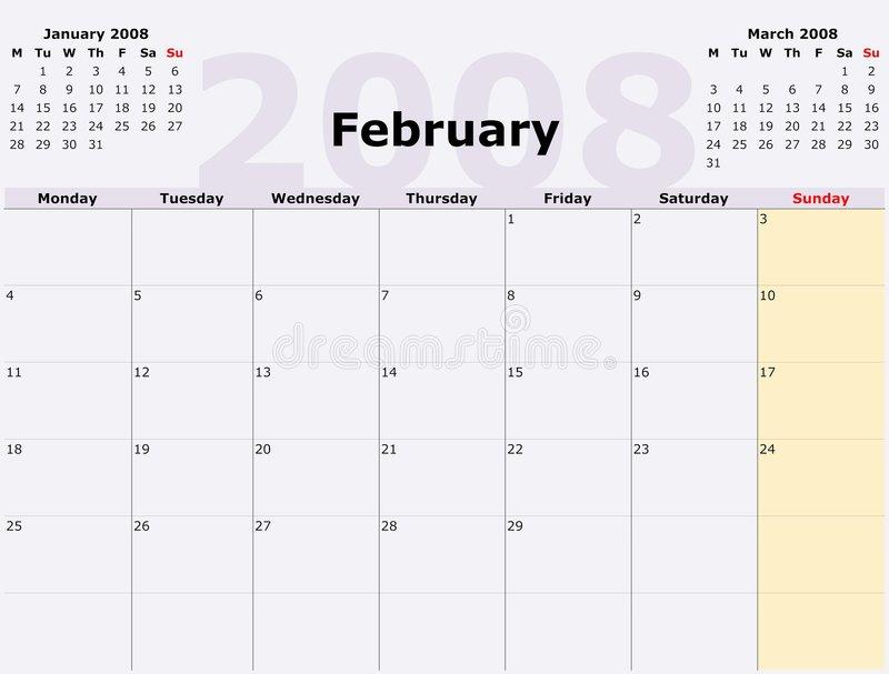 Monday To Sunday Monthly Calen Stock Illustration regarding Calendar Monday To Sunday