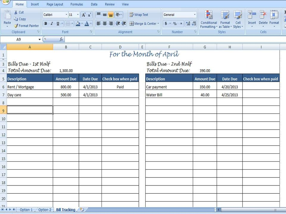 Monthly Bill Organizer Bill Tracker By Timesavingtemplates in Excel Monthly Tracker Template