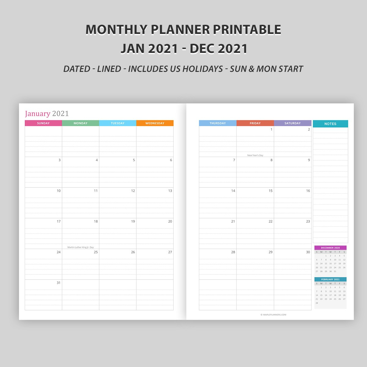 Monthly Calendar 2021  Vertical Layout  Download Free inside Free Printable Calendar With Lines On Days 2021
