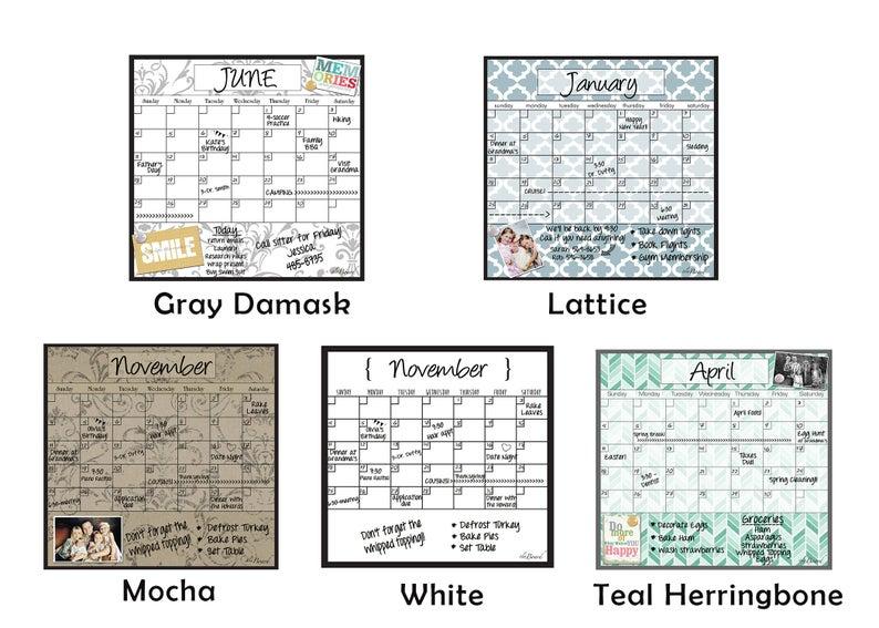 Monthly Calendar Perpetual Monthly Calendar Decorative | Etsy for Perpetual Monthly Calendar