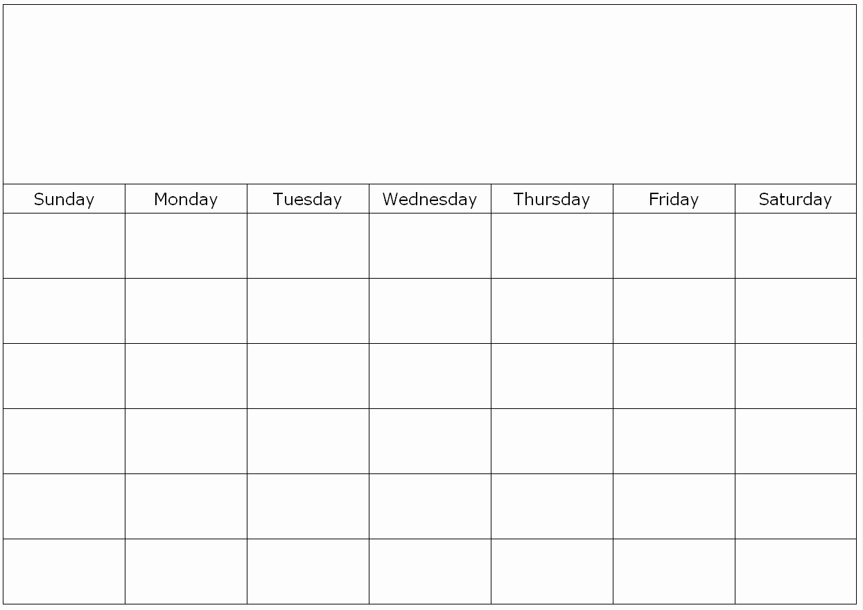 Monthly Calendar To Fill In :Free Calendar Template within Fill In Calendar