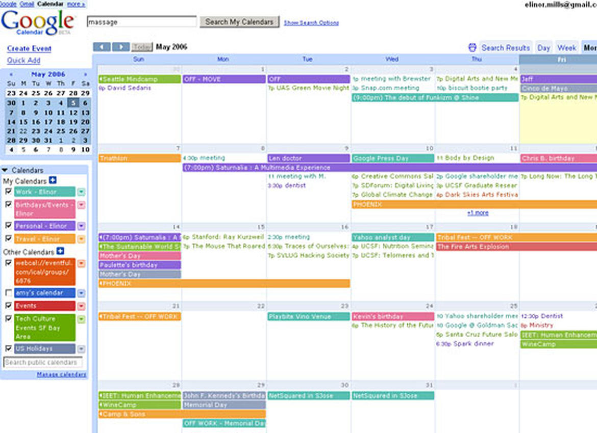 Monthly Calendar View with Print Yearly Calendar Outlook