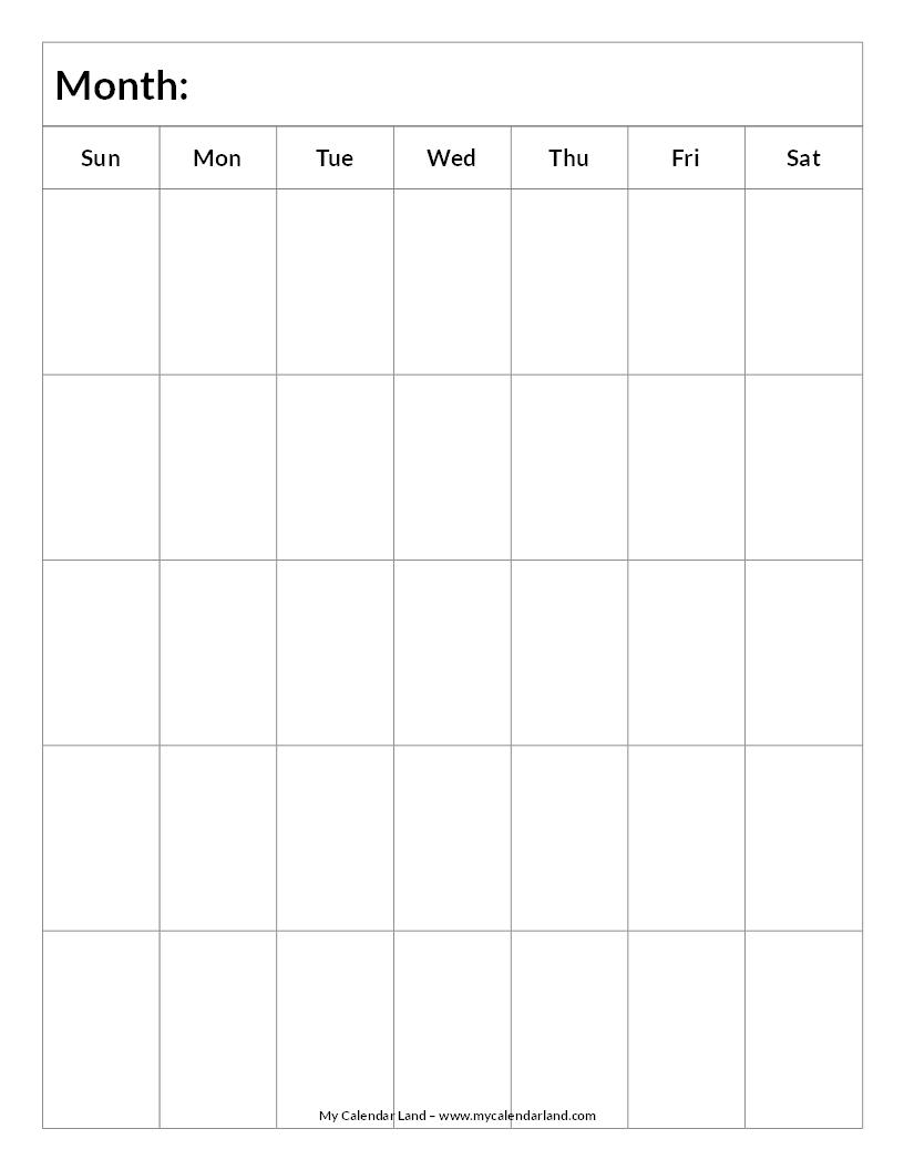 Mycalendarland Calendar Images Blank Blankcalendar5 for Blank 5 Day Calendar