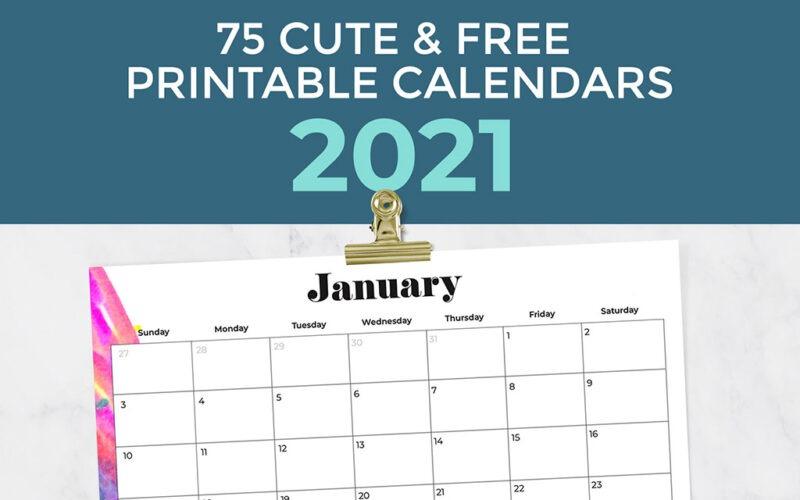 Oh So Lovely Free 2017 Printable Calendars  20+ Design regarding Desktop Calendars 2021 Free Printable