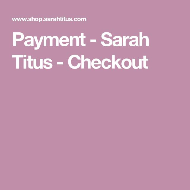 Payment  Sarah Titus  Checkout In 2020 | Sarah Titus within Sarah Titus Printables