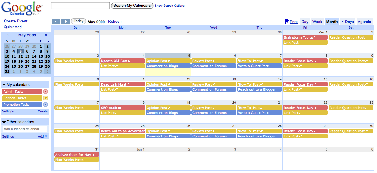Pb012: Create An Editorial Calendar For Your Blog [Day 12 regarding Google Docs Editorial Calendar Template